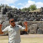 Our guide, Abrahan, explains how the Incas built structures like this.