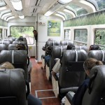 Aboard Peru Rail's Vistadome train headed to Aguas Calientes, the gateway to Machu Picchu.