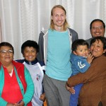 Landon with his host parents, Carmen Bañon and Juan Baldoseda Roca, his host grandmother (left) and his two host brothers.