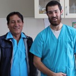 Rudy with his clinic supervisor, Dr. Raul Palomino.