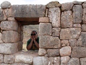 Jacob looking at the world from an Incan point of view.