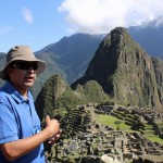 Oswaldo Palomino Alvarado, our expert tour guide, at Machu Picchu.