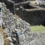 Restoration work at macho Picchu.