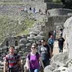 Joshua, Becca, Jacob, Lauren and Rudy tour Machu Picchu.