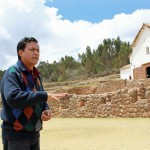 Our guide, Oswaldo, shows us the remains of a royal Incan parade ground at Chinchero.