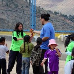 Jacob helps Cintia, a teacher who coordinates physical education classes.