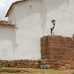 A colonial church built on top of Incan architecture
