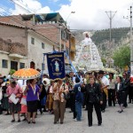 A procession in honor of Nino Nakaq, an image of the Christ child, which is venerated in Ayacucho.