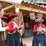 Textile workers in Chinchero show us their craft