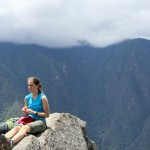 Lauren at the summit of Wayna Picchu.