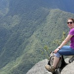 Becca at the summit of Wayna Picchu.