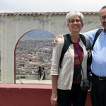 SST Peru co-directors Judy Weaver and Richard Aguirre enjoy a scenic view of Ayacucho.