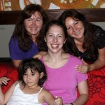 "Becca with her host ""aunts,"" Rocio Del Aguila Gerbi and Carolina Del Aguila Gerbi, and Rocio's daughter, Valencia."
