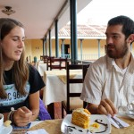 Lauren and Rudy enjoy a break in Ayacucho.