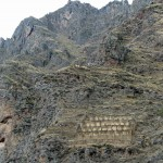 We climbed to these Incan storehouses on the hillside above Ollantaytambo.