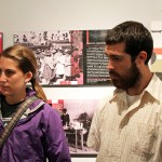 "Lauren and Rudy listen to a museum guide describe the death toll – more than 70,000 people – in the ""Shining Path"" conflict."