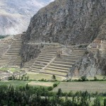 The Ollantaytambo fortress, site of a battle in which the Incas repelled the Spanish invaders