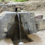 This fine Incan fountain at Ollantaytambo includes a stair step design important in Andean cosmology.