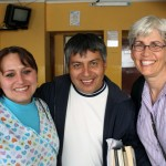 Jacob's host mother, Deyadira Bañon, a nurse, with SST Peru Service Coordinator Willy Villavicencio and SST Peru co-director Judy Weaver.