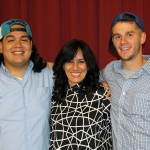 Rudy and Alan with Ana Bracamonte Bardalez, their Spanish teacher