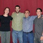 Landon, Becca, Rudy, Josh and Lauren with Moises Arce Zavla, their Spanish teacher