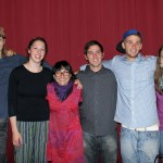 The students with Biviana Goto Sanchez, and actress and Spanish teacher who led the drama production