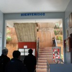 The main entrance to the Fe y Alegria school.