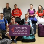 The Peru SST Fall 2013-2014 students after their arrival at the Lima airport on Sept. 5, 2013 – (front row) Rudy, Joshua and Alan and (back row) Landon, Jacob, Becca and Lauren.