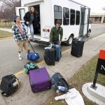 Alan, Becca and Joshua arrive at Goshen College.