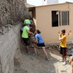 Back to work on clearing the sand from the side of the building.