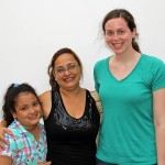 April with host sister, Daniela, and host mother, Krizian.