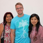 Derek with host mother, Betty Lozano Cahuana, and host sister, Grecia.