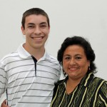 Jake with host mother, Cecilia Nue Pereda.