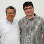 Jonathan with host father, Carlos Seson.
