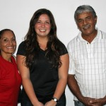 Maria with host parents, Charo and Juan Calderon.