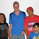 Thomas with how parents, Eliana and Ricardo Mauriola, and his host brother, Mathias.
