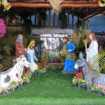 The nativity scene in front of the municipal government building in Chorillos, a district of Lima.