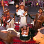 An Andean-inspired nativity scene at the Inka Market in Miraflores.