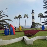 The Colombian government donated this unusual nativity  to the malecon (beachfront) in Miraflores.