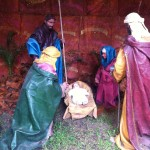 The nativity scene in Parque Kennedy, which is in the Miraflores district of Lima.