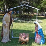 The nativity scene at Parque Belen (Bethlehem) in the San Isidro district of Lima.