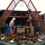 The nativity scene in the San Isidro Market.