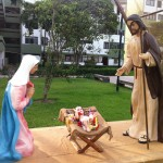 The nativity scene in the Residencial Santa Cruz in the San Isidro district of Lima.