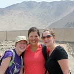 Natalie, Maria and Malaina at Caral.