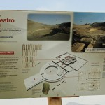 A description of the amphitheater at Caral.