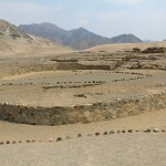The amphitheater at Caral.