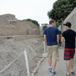 Tom and Derek at the Huaca Pucllana.
