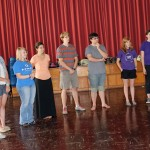 Students learn about Peruvian dances.