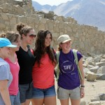 Aimee, Gina, Malaina, Maria and Natalie pause for a photo at Caral.