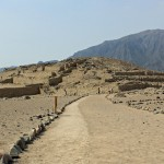 A scenic view of Caral.